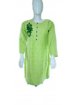GREEN ALL NET FLORAL SHIRT